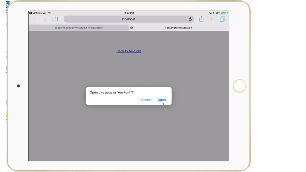 how to download fonts to ipad