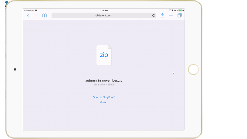 How to Download Fonts to iPad and use with Design Space