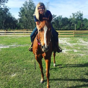 Picture of me on Kali the horse